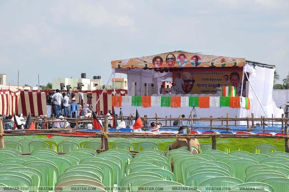 மதுரையில் ஸ்டாலின், ராகுல் காந்தி ஒரே மேடையில் பிரசாரம் ... படங்கள் வி.சதீஷ்குமார்