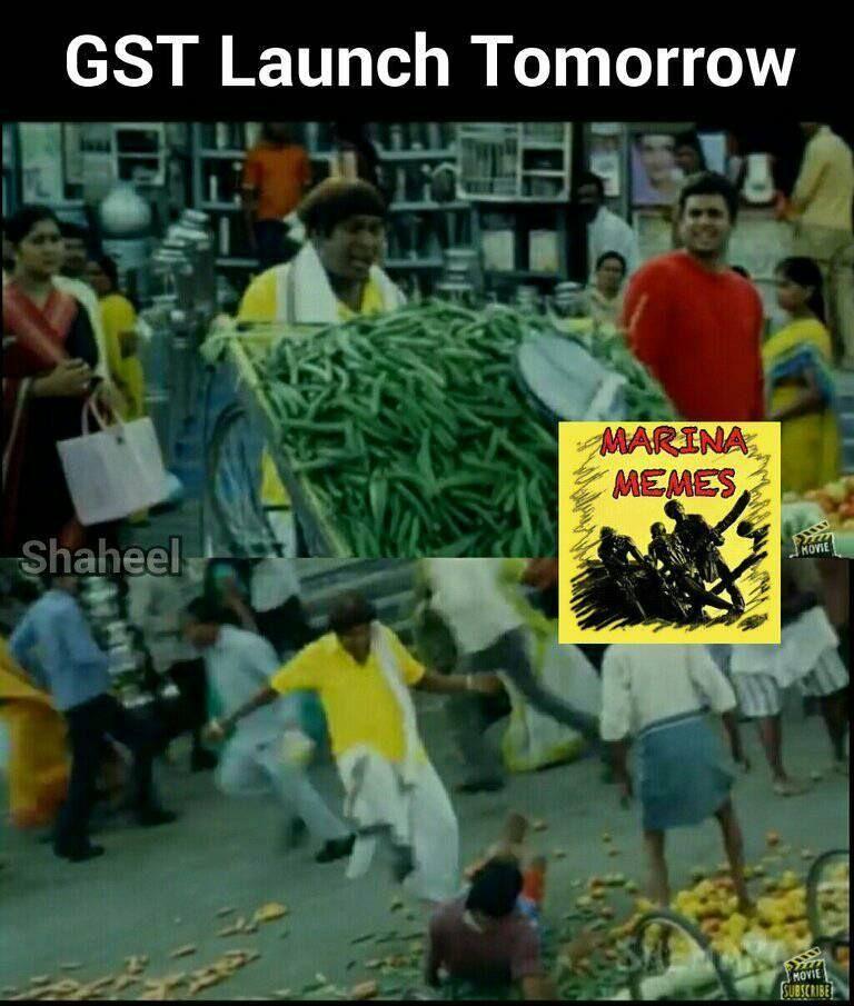 பஞ்சுமிட்டாய் அஞ்சு ரூபாய், ஜி.எஸ்.டி சேர்த்தால் 8 ரூபாய்! - அனல் பறக்கும் ஜி.எஸ்.டி மீம்ஸ்