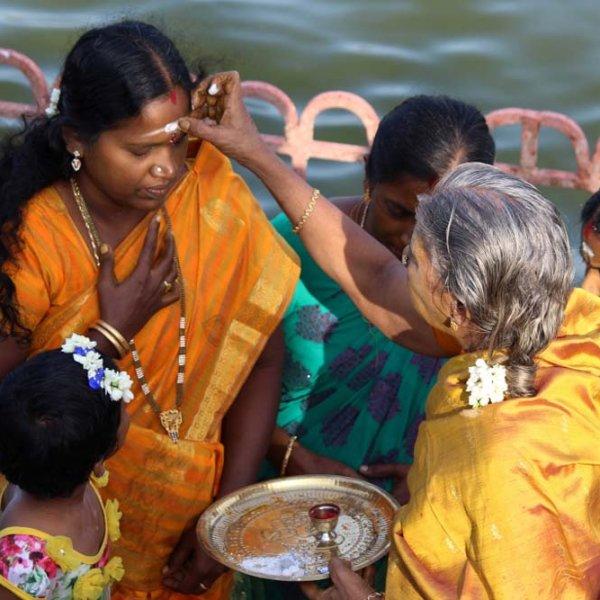 Adi perukku celebrations held among Cauvery river areas