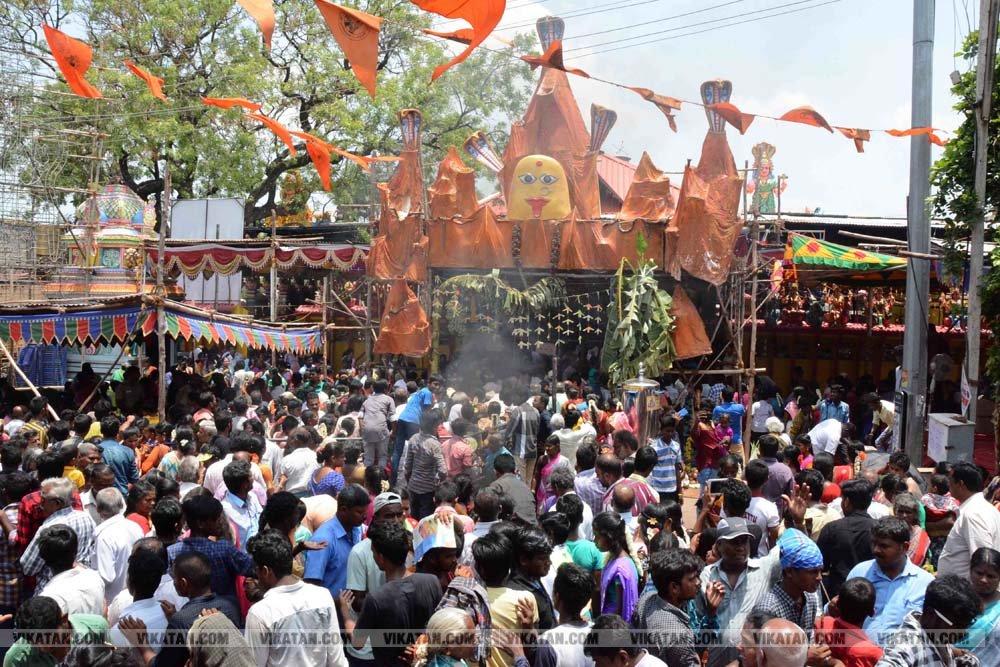 வேலூர்  மாவட்டம் குடியாத்தம் கெங்கையம்மன் சிரசுதிருவிழா படங்கள் - ச.வெங்கடேசன்