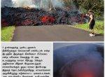 30 அடி உயரம் சீறிய எரிமலை... சாலையில் ஓடிய லாவா... பதற வைக்கும் படங்கள்! #VikatanPhotoStory