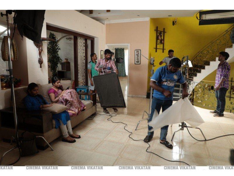 'ராஜா ராணி' செம்பா, திவ்யா ஷூட்டிங் ஸ்பாட் ஸ்டில்ஸ்...  படங்கள்: சொ.பாலசுப்ரமணியன்
