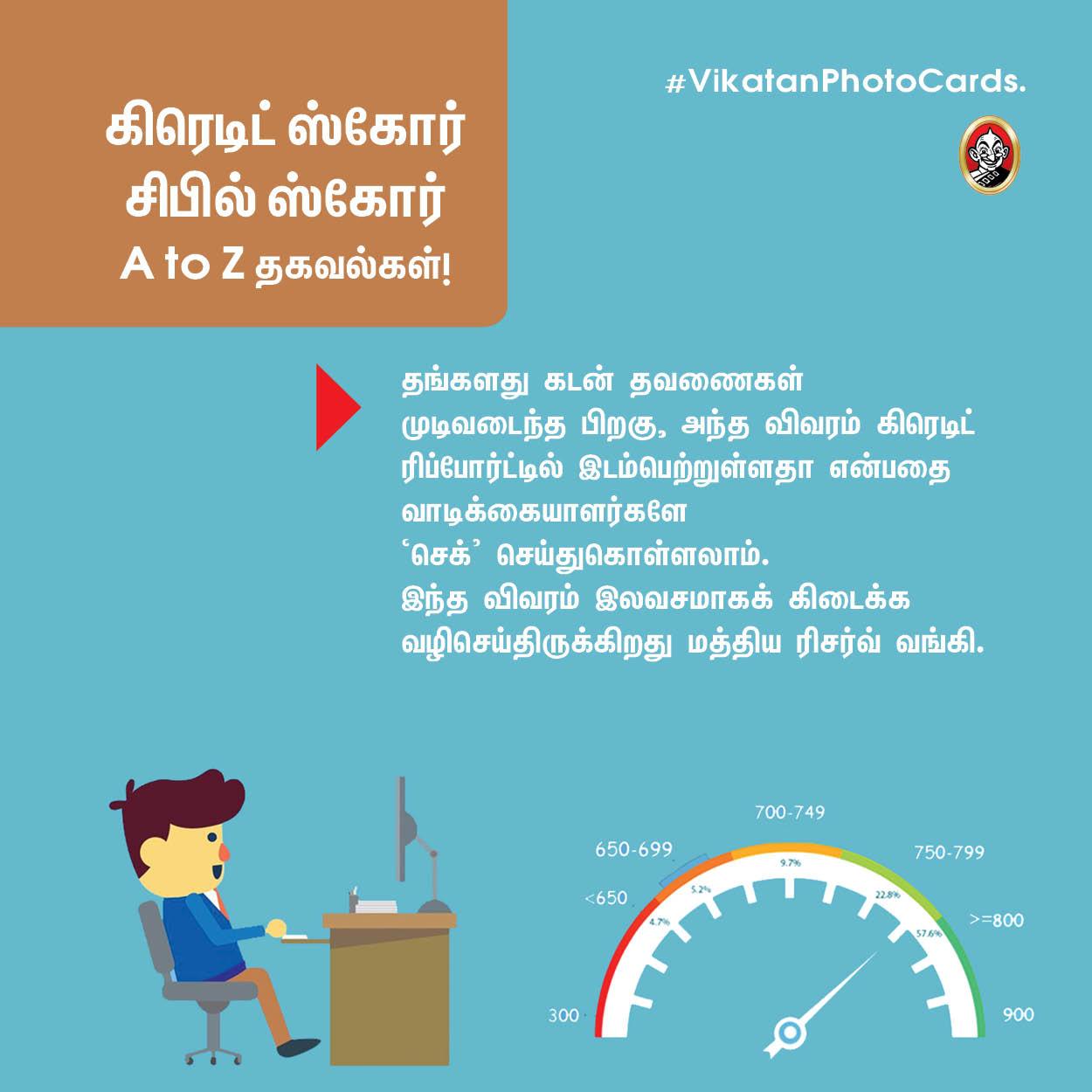 க்ரெடிட் ஸ்கோர், சிபில் ஸ்கோர் - A to Z தகவல்கள்! #VikatanPhotoCards