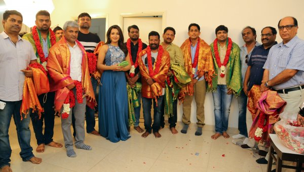 சித்தார்த்,கேத்ரின் தெரசா நடிக்கும் புதிய படத்தின் பூஜை..!