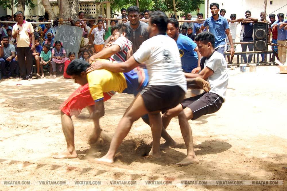 விழுப்புரத்தில்  நடைபெற்ற  மாநில அளவிலான  கபடி போட்டி... படங்கள் - டி.சிலம்பரசன்