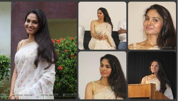 வடசென்னை படவிழாவில் நடிகை ஆண்ட்ரியா... படங்கள்: ராகேஷ் பெ