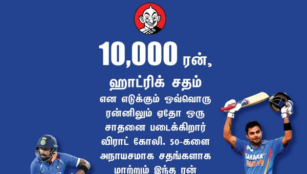 இலங்கையிடம் 2,186... 2017-ல் 1,460...இது கோலியின் ரன் கிராஃப்! #VikatanPhotoCards #HBDKohli