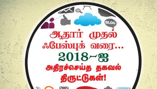 ஆதார் முதல் ஃபேஸ்புக் வரை... 2018-ஐ அதிரச்செய்த தகவல் திருட்டுகள் #VikatanPhotoCards