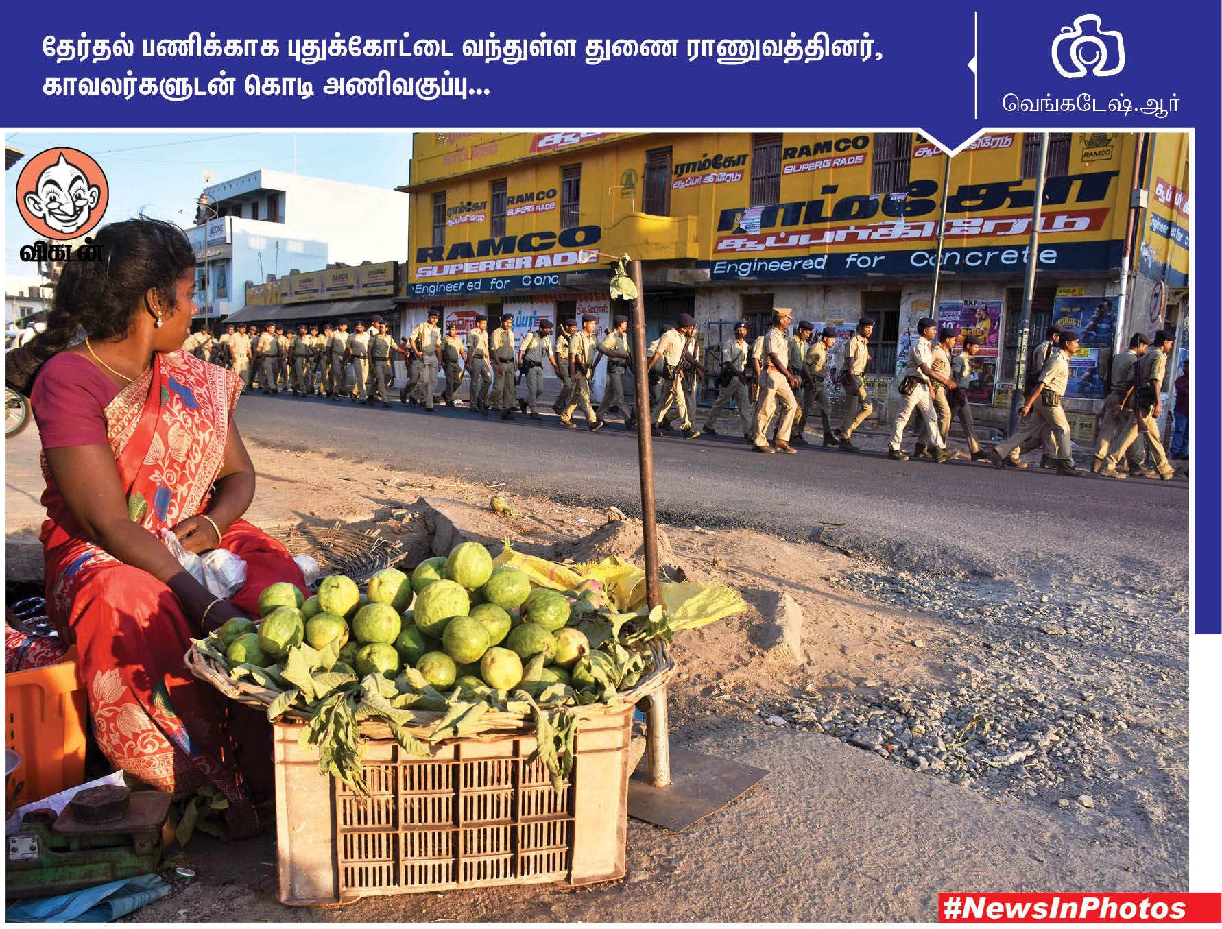 தி.மு.க வேட்பாளரை ஆதரிக்கும் லியோனி... மேம்பாலத்தில் அமைக்கப்பட்டுள்ள சுவர் தோட்டம்... #NewsInPhotos