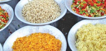 சரித்திர விலாஸ் - இன்றைய மெனு - அப்பளம் - வற்றல் - வடகம்