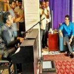 இசைப் புயலுடன் கிரிக்கெட் ஜாம்பவான் சந்திப்பு !