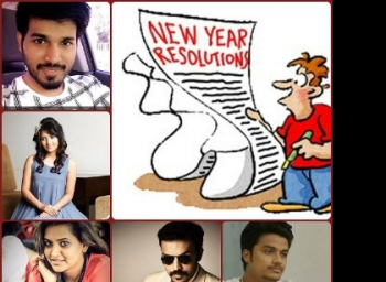 New year resolutions of TV stars