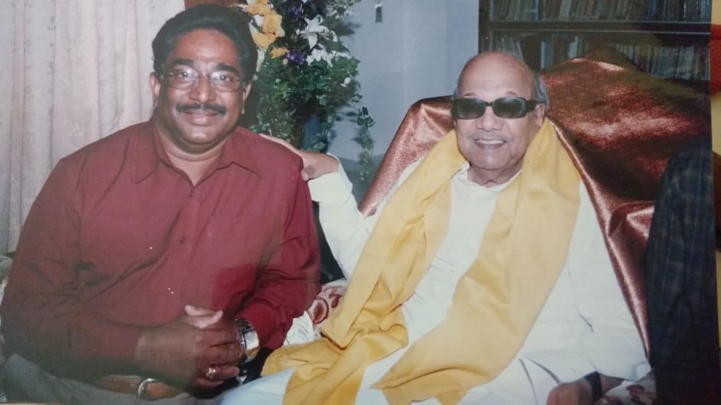 கருணாநிதியுடன் நடிகர் ராஜேஷ்