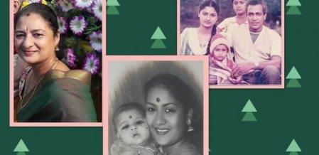 ``அம்மாவும் நானும் சுவர் ஏறி மருதாணி பறிப்போம்!'' - சாமூண்டீஸ்வரி #HBDSavithri