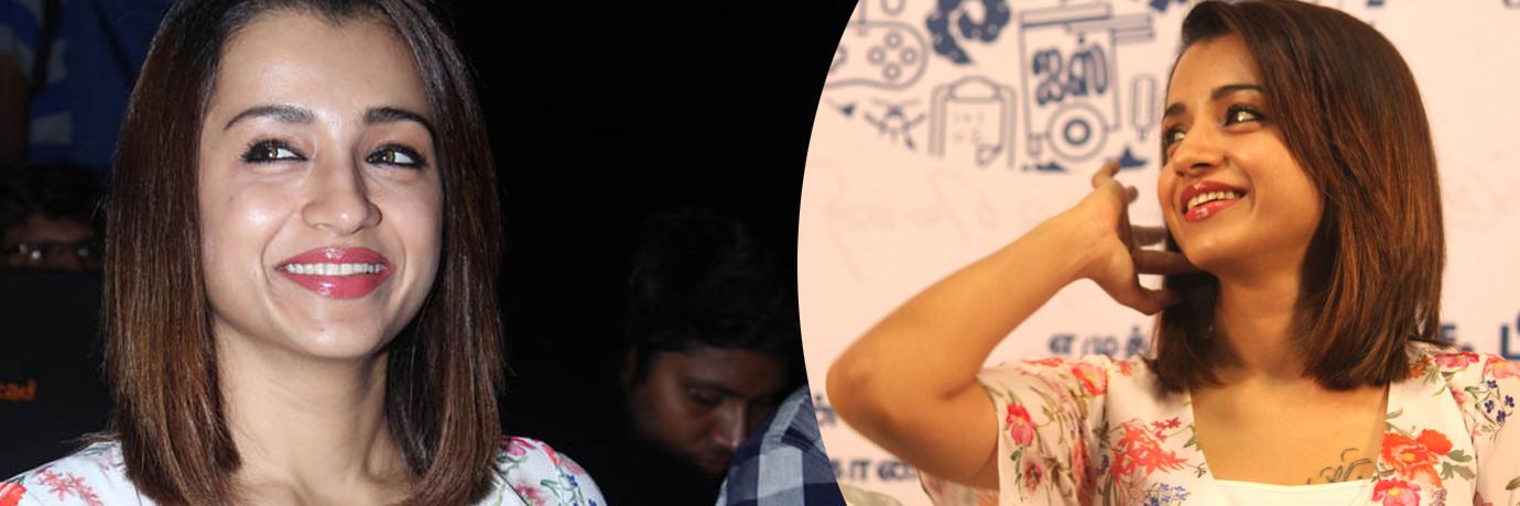 '96' படவிழாவில் நடிகை த்ரிஷா..  படங்கள்: வள்ளிசௌத்திரி ஆ, ராகேஷ் பெ