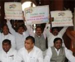 'தெலங்கானா'வால் அமளி: ஏப்.24 வரை மக்களவை ஒத்திவைப்பு
