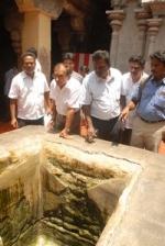 ராமேஸ்வரம் கோயிலில் உயர் நீதிமன்ற குழு ஆய்வு (படங்கள்)