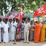 ராமேஸ்வரம் நகராட்சியை கண்டித்து மார்க்சிஸ்ட்  ஆர்ப்பாட்டம்!