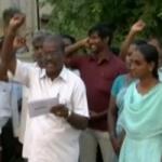 தேர்தல் ஆணையத்தை கண்டித்து வி.ஏ.ஓ.க்கள் ஆர்ப்பாட்டம்!