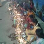 சிதம்பரம் காயத்ரி தேவி கோயிலில் 108 திருவிளக்கு பூஜை!