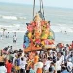 சென்னையில் 2வது நாளாக விநாயகர் சிலைகள் கடலில் கரைப்பு!