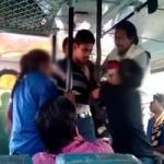 ஓடும் பேருந்தில் ஈவ் டீசிங்: வாலிபரை சரமாரி தாக்கிய மாணவிகள்!