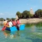 கடலும் இல்லை... ஏரியும் இல்லை... ஆனா நடக்குது படகு சவாரி!