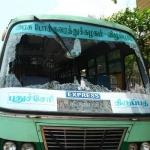 லாரி, ஆட்டோ தொழிற்சங்கத்தினர் ஸ்டிரைக்: பேருந்துகள் உடைப்பு!