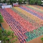 லிம்கா சாதனை வரிசையில் சென்னை மாணவர்களின் யோகா நிகழ்ச்சி!