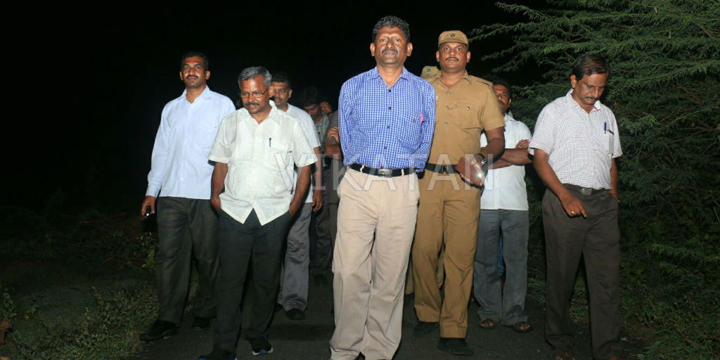 Sagayam IAS at PRP Case location