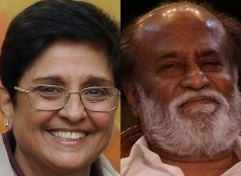 Kiran Bedi calls Rajnikanth to be a brand ambassador for Pondicherry