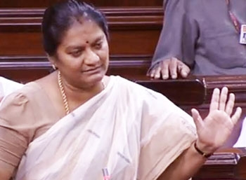 Sasikala pushpa sensitive speech about her leader on clash with dmk mp siva