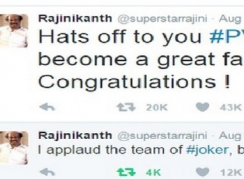 Sindhu, I Am Your Fan, Tweets Rajinikanth. Over 20,000 Retweets And Counting