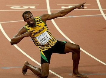 9 Gold medals in 5.77 Minutes Ultimate olympic Record By Usain Bolt