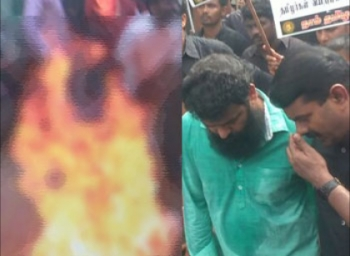 Naam Thamizhar cadre self immolated himself in-front of seeman