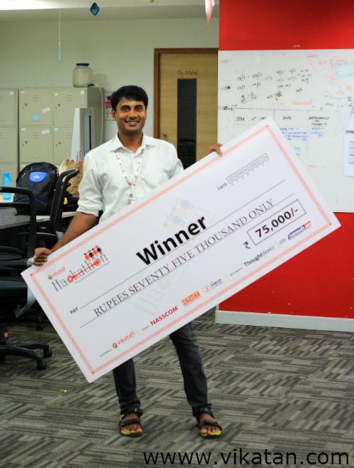 Vikatan Hackathon Winner Premkumar