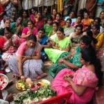 அப்போலோ வாசலில் பூஜை நடத்திய கோகுலஇந்திரா