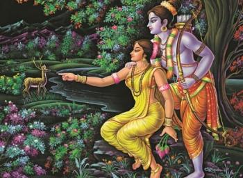 Lord Rama celebrates navarathri!