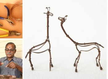 one among 200 wire sculpture artists across the world is here