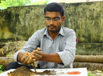 engineering graduates making seedball