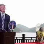 அமெரிக்க அதிபர் தேர்தல்:ட்ரம்ப்பை தேர்ந்தெடுத்த குரங்கு