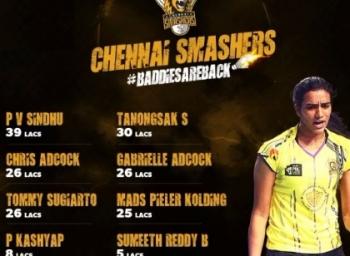 Chennai Smashers Get again PV Sindhu