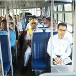 அரசுப் பேருந்தில் பயணம் செய்த கலெக்டர்!