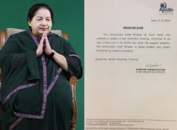 Apollo says Jayalalithaa continues to be very critical