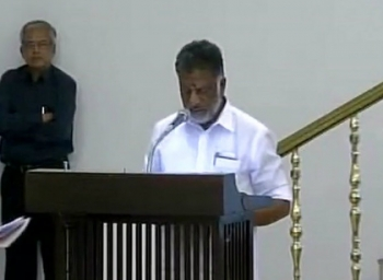 O Panneerselvam sworn in as new Chief minister of Tamil Nadu