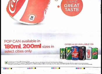 Cola drinks are not recommended for children alerting ads by Companies