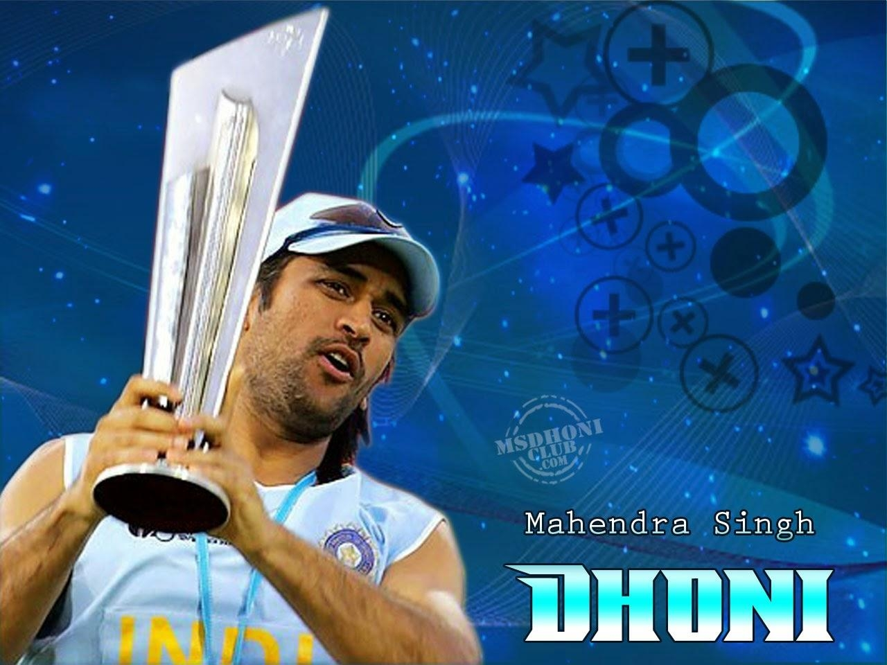 dhoni with worldcup