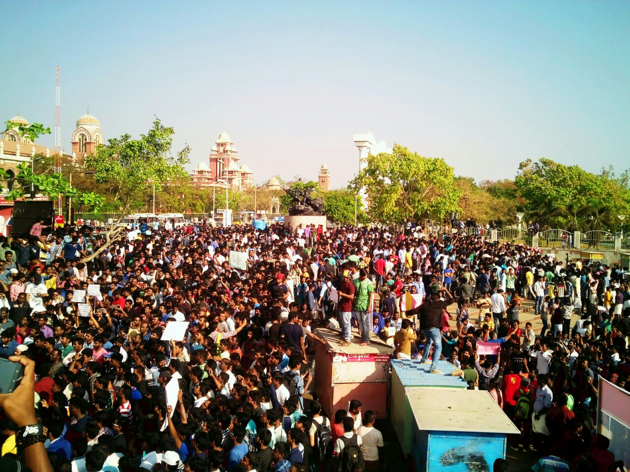 Protest in Chennai Marina