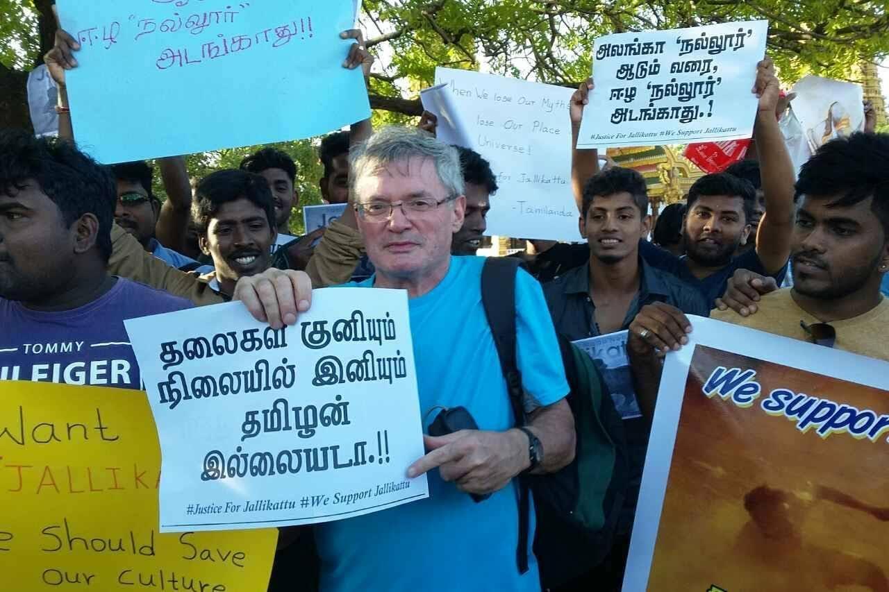 'நல்லூரில் ஆர்ப்பாட்டம்' : இலங்கை வரை நீண்ட ஜல்லிக்கட்டு ஆதரவு!