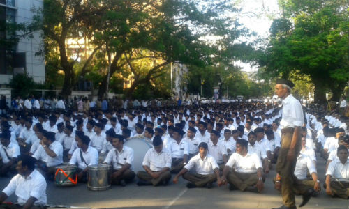 RSS Rally in Chennai after 15 Years